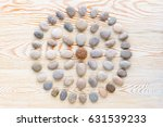 pattern of colored pebbles on... | Shutterstock . vector #631539233