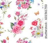 watercolor seamless pattern... | Shutterstock . vector #631561703