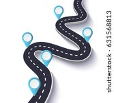 winding road on a white... | Shutterstock . vector #631568813