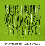 alphabet set straight lines... | Shutterstock .eps vector #631569617