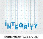 integrity hanging letters   Shutterstock .eps vector #631577207