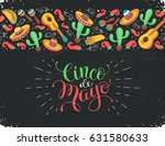 cinco de mayo poster  in... | Shutterstock .eps vector #631580633
