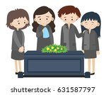 sad people crying at funeral... | Shutterstock .eps vector #631587797