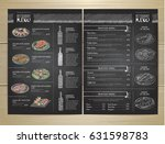 chalk drawing restaurant menu... | Shutterstock .eps vector #631598783