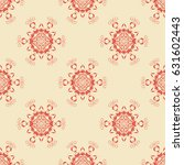 seamless background with floral ... | Shutterstock .eps vector #631602443