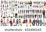 flat people  collection  girls  ... | Shutterstock .eps vector #631606163