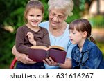 education concept  grandmother... | Shutterstock . vector #631616267