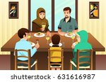 a vector illustration of muslim ... | Shutterstock .eps vector #631616987