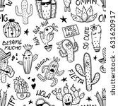 sketch seamless pattern of... | Shutterstock .eps vector #631620917