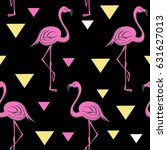 seamless pattern with pink... | Shutterstock .eps vector #631627013