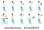 african american chef cook... | Shutterstock .eps vector #631628447