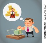 ruined unemployed businessman... | Shutterstock .eps vector #631641467