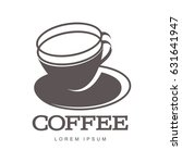 hot cup coffee logo templates.... | Shutterstock . vector #631641947