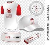 white t shirt  usb flash drive  ... | Shutterstock .eps vector #631643237