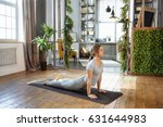 young woman in homeware... | Shutterstock . vector #631644983
