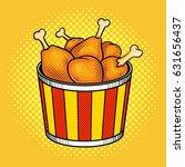 fast food chicken legs bucket... | Shutterstock .eps vector #631656437