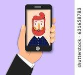 hipster bearded man takes...   Shutterstock .eps vector #631658783