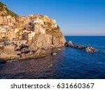 sunset in manarola  cinque... | Shutterstock . vector #631660367