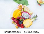 exotic fruits. summer photo... | Shutterstock . vector #631667057