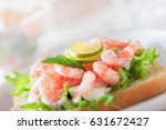 sandwich with shrimps  with... | Shutterstock . vector #631672427