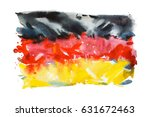 flag of germany  hand drawn... | Shutterstock . vector #631672463