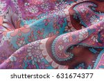 folds of fabric with a pattern | Shutterstock . vector #631674377
