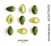 Seamless Pattern With Avocado....