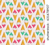 colorful seamless pattern with... | Shutterstock .eps vector #631678937