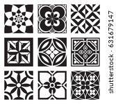 vintage ornamental patterns in...