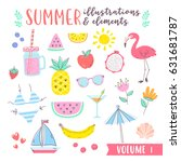 summer design illustrations... | Shutterstock .eps vector #631681787