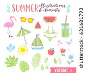 summer design illustrations... | Shutterstock .eps vector #631681793