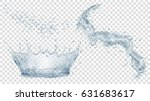 transparent water crown  splash ... | Shutterstock .eps vector #631683617