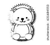 kawaii animal icon | Shutterstock .eps vector #631684553