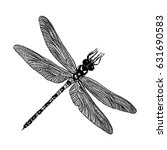 insect stipple drawing isolated.... | Shutterstock .eps vector #631690583