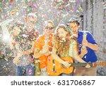 young friends having a big... | Shutterstock . vector #631706867
