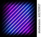 colorful neon diagonal... | Shutterstock . vector #631725917