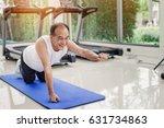 healthy senior man exercise on... | Shutterstock . vector #631734863