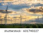 wind turbine producing... | Shutterstock . vector #631740227