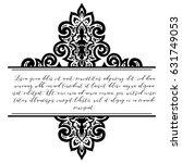 abstract art invitation card  | Shutterstock .eps vector #631749053
