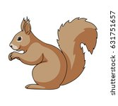 squirrel is a forest animal.... | Shutterstock .eps vector #631751657