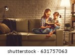 family before going to bed... | Shutterstock . vector #631757063