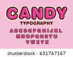 candy typography vector... | Shutterstock .eps vector #631767167