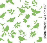 seamless pattern with bird and... | Shutterstock .eps vector #631774517