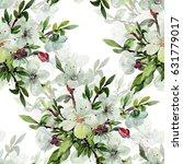 seamless watercolor... | Shutterstock . vector #631779017