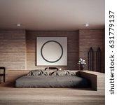 the loft and modern bedroom  ... | Shutterstock . vector #631779137