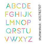 colorful minimal futuristic... | Shutterstock .eps vector #631782707
