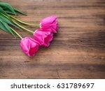 pink tulips  floral arrangement ... | Shutterstock . vector #631789697