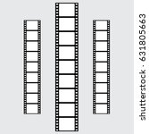 set of vector filmstrips.... | Shutterstock .eps vector #631805663