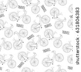 travel bicycle seamless pattern.... | Shutterstock .eps vector #631806383