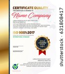 vector certificate quality... | Shutterstock .eps vector #631808417